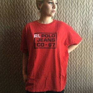 Polo Jeans Ralph Lauren Vintage Red Tee Shirt